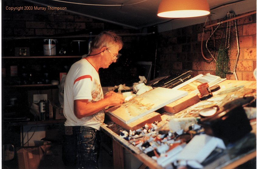Neil Savage in his studio